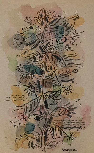 Rene Portocarrero 1956 - Watercolor on paper Image