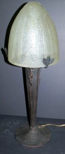 "Daum Nancy Table Lamp with Iron Base - H: 23"" D: 9"" Image"