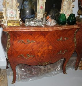 Empire Style Commode - Marble Top - Two Drawers Image