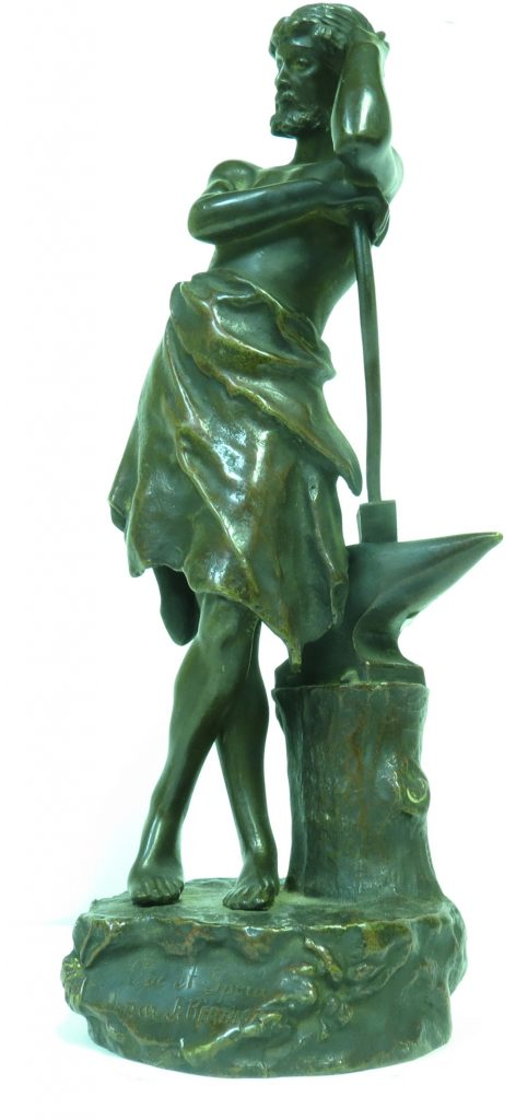 J. Berthoz - Bronze Figure - Blacksmith Do & Hope Image