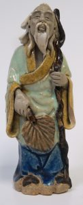 "Chinese Ceramic - Monk Sculpture - H: 4.5"" Image"