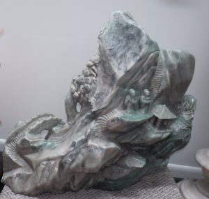 "Jade Stone Sculpture - Monumental - H: 31"" W: 34"" Image"