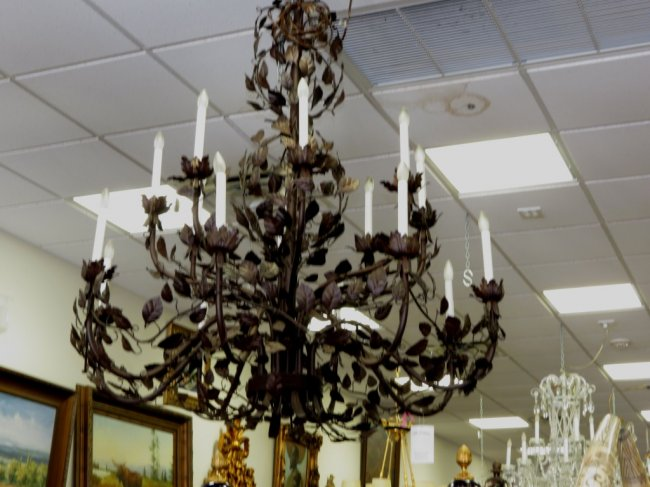 Unique Chandelier - Italian - Iron - Handmade Image
