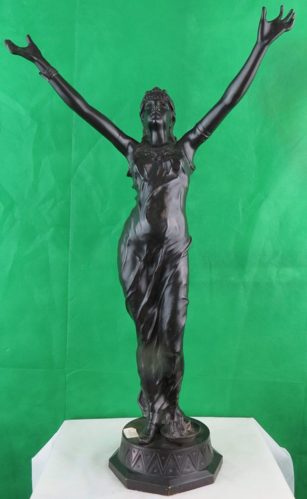 "French Bronze - Signed E.H.Teder, ""Salambo"" - C.1920 Image"