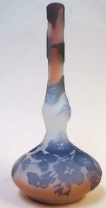"Authentic Galle Cameo Glass Vase - H: 6.5"" Image"
