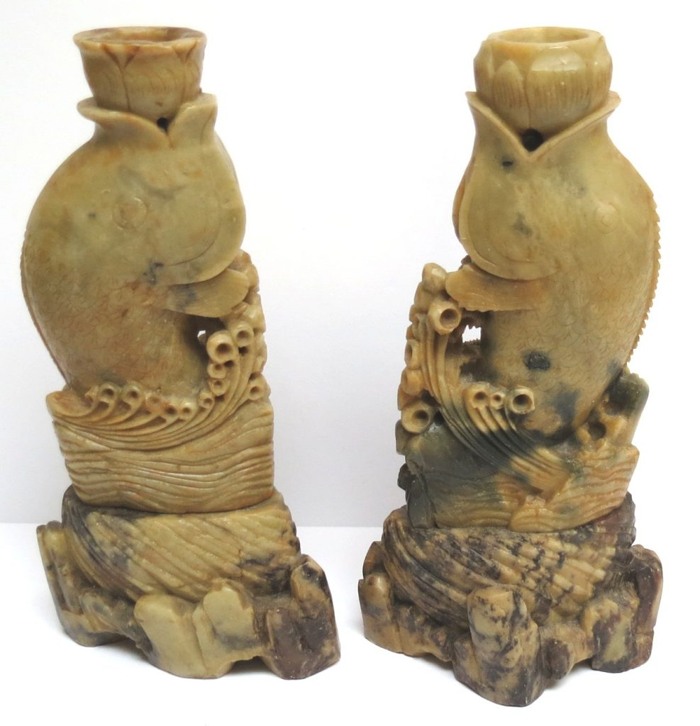 Pair of Chinese Soapstone Sculptures Image