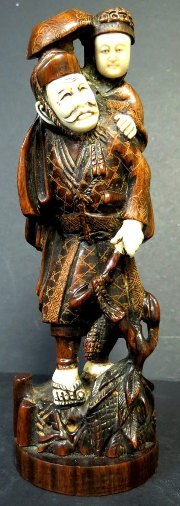 Oriental Wood & Bone Figure - H:6 Image