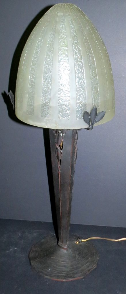 """Daum Nancy Table Lamp with Iron Base - H: 23"""" D: 9"""" Image"""