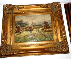 """""""Hay Harvest"""" - Oil On Canvas - Signed Image"""
