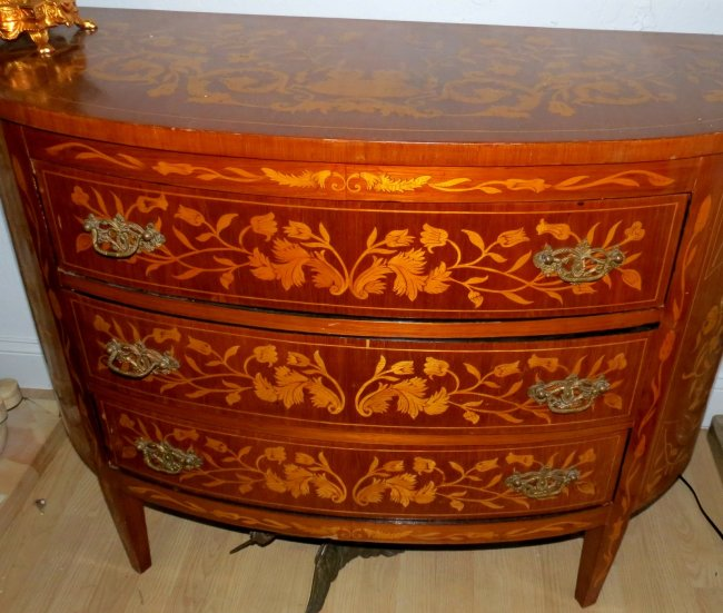 Commode - 3 Drawer - Marqueterie - Holland Style Image