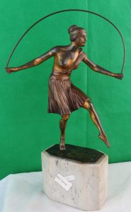 Art Deco Bronze - Lady Jumping Rope - France - 1910 Image
