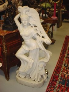 Exotic Dancer Sculpture - White Marble Image
