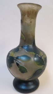 Galle Cameo Glass Vase - Unsigned - France Image