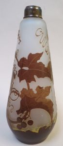 Authentic Galle Cameo Glass Bottle Image