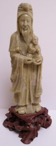 Chinese Soapstone Sculpture - Monk - 1900 Image